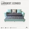 โซฟาเบด รุ่น LARGEST CONDO (มี 5 ขนาด) Sofa Bed ปรับนอนได้ ขนาดมาตรฐาน 230x190x90 cm