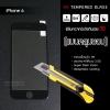 """(มีกรอบ 3D แบบคลุมขอบ) กระจกนิรภัย-กันรอยแบบพิเศษ ขอบมน 2.5D (iPhone 6/6s 4.7"""" นิ้ว) ความทนทานระดับ 9H สีดำ สะท้อนแสง"""