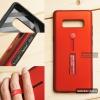 เคส Samsung Galaxy Note 8 เคส Hybrid เกรดพรีเมี่ยม 2 ชั้น ขอบยางลดแรงกระแทก พร้อม (ขาตั้ง + สายคล้องนิ้ว) สีแดง