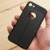 เคส iPhone 8 เคสนิ่ม Hybrid เกรดพรีเมี่ยม ลายหนัง (ขอบนูนกันกล้อง) แบบที่ 2 (มีเส้นตรงกลาง)