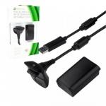 Battery Xbox360 Black For PC (แบต1ก้อน+สายชาร์จ) (Warranty 3 Month)