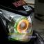โปรเจคเตอร์มอเตอร์ไซค์ไฟวงแหวนLED COB ไฟหน้าLED 18 วัตต์ ไฟวงแหวน สีแดงขาว thumbnail 17