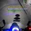 โปรเจคเตอร์มอเตอร์ไซค์ไฟวงแหวนLED COB ไฟหน้าLED 18 วัตต์ ไฟวงแหวน สีแดงขาว thumbnail 2