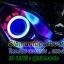 โปรเจคเตอร์มอเตอร์ไซค์ไฟวงแหวนLED COB ไฟหน้าLED 18 วัตต์ ไฟวงแหวน สีแดงฟ้า thumbnail 14
