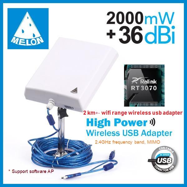 Wi Fi Wireless USB Outdoor Adapter N4000 Wifi built-in 36dBi Antenna Long  range รับสัญญาณ แรงสุดๆ